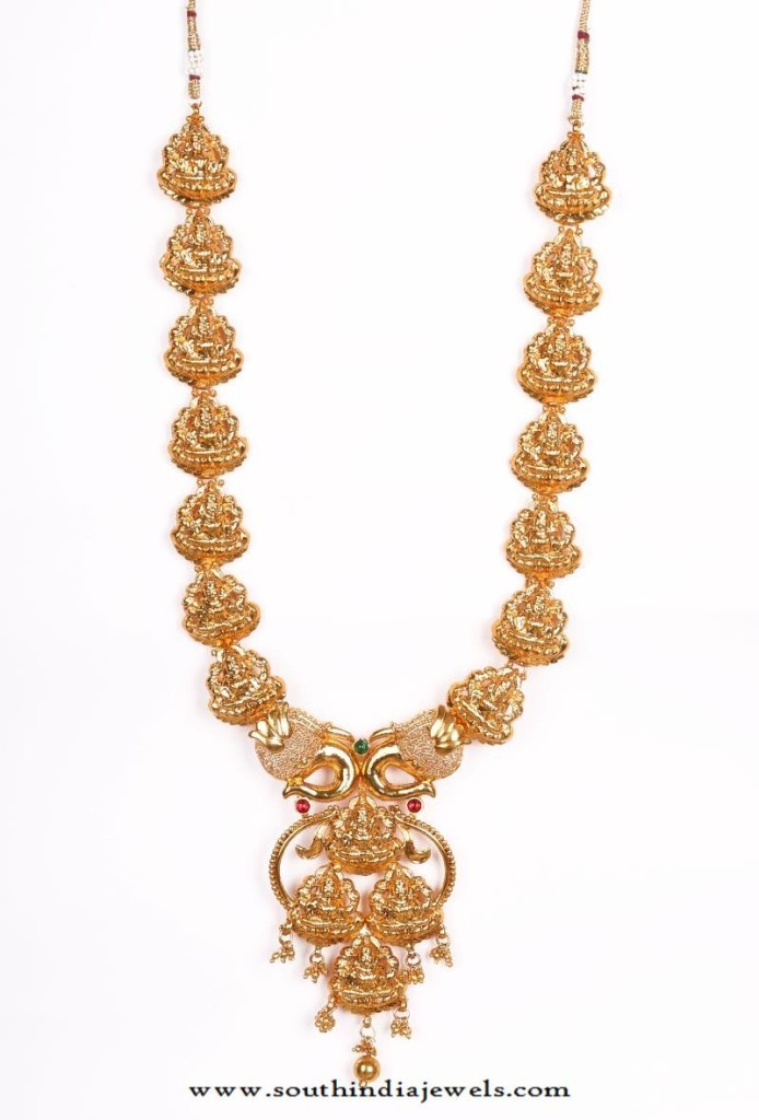 Gold Plated Long Temple Necklace from Tjori