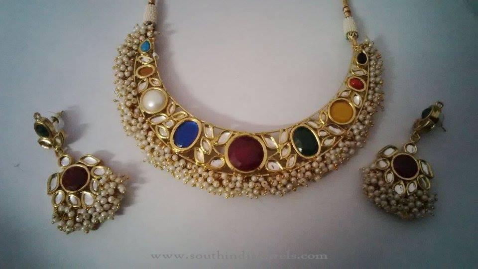 Indian Kundan Choker with Pearls