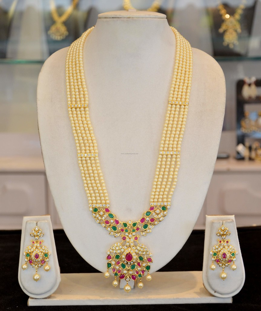 Traditional Pearl Long Haram Designs