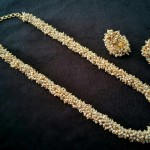 Clustered Pearl Chain with Matching Jhumka