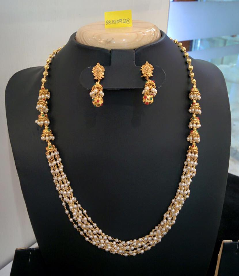 Pearl Necklace with side locket