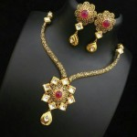 Trendy Imitation Kundan Necklace Set
