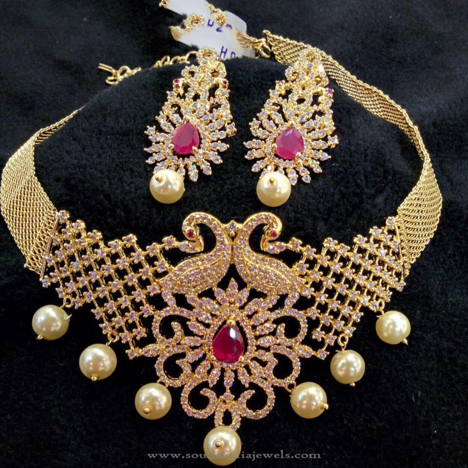 Gold Plated Choker With South Sea Pearls