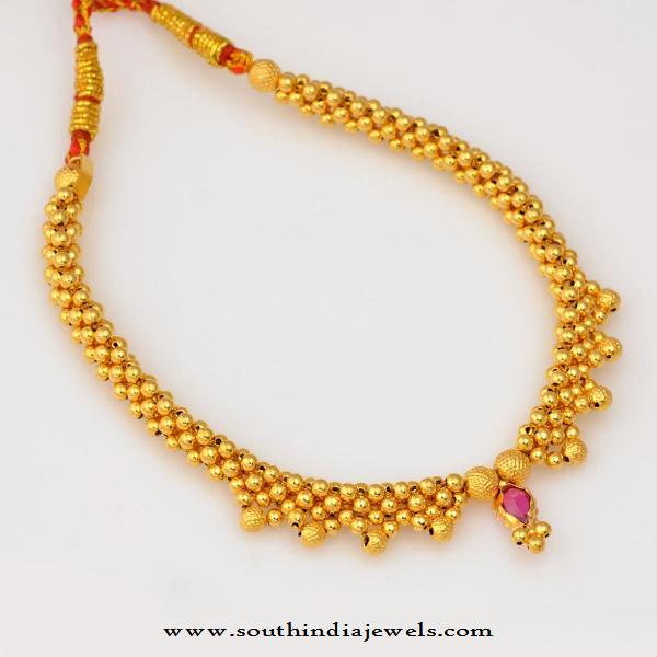 Gold Short Necklace from WHPS