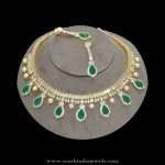 1gm gold stone necklace