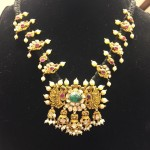 Gold Antique Black Thread Necklace