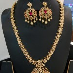 American Diamond Stone Necklace set from Vanathi