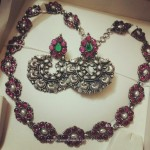 Pure Silver Ruby Necklace and Chandbali