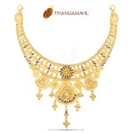 Gold Enamel Necklace from Thangamayil Jewellery