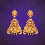 22K Gold Antique Jhumka from GRT Jewellers