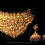 Indian Gold Antique Lakshmi Choker Necklace