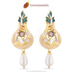 Gold Designer Earrings from Thangamayil Jewellery