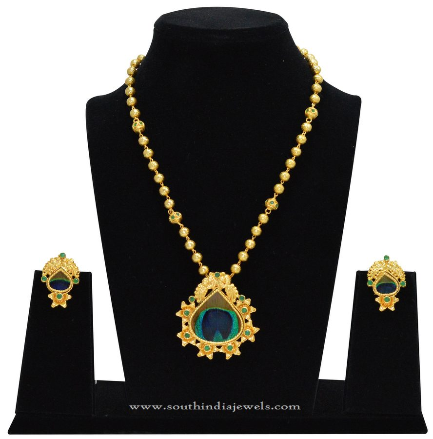 Gold Plated Chain with Fancy Pendant