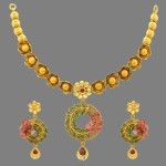Indian Designer Floral Necklace set from Prince Jewellery