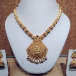 Light Weight Gold Temple Jewellery Necklace