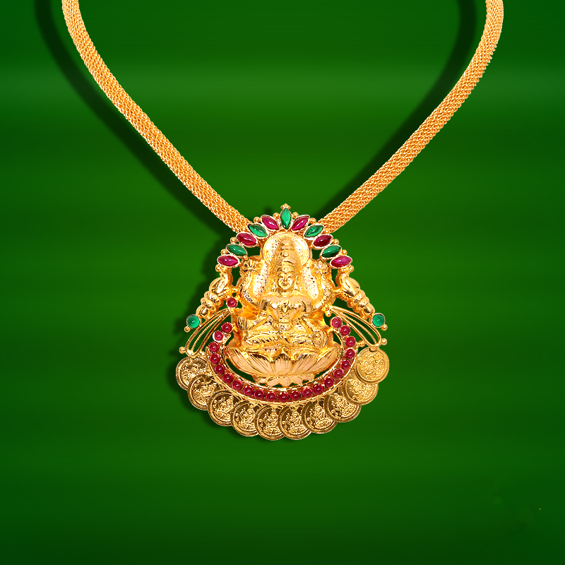 Light Weight Gold Temple Necklace from GRT