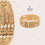Gold Broad Bangle From Tanishq
