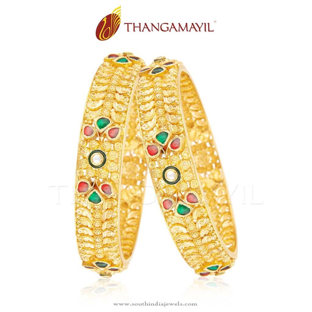 Tradtioanal Gold Bangle From Thangamayil Jewellery