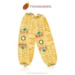 Traditional Gold Bangle From Thangamayil Jewellery