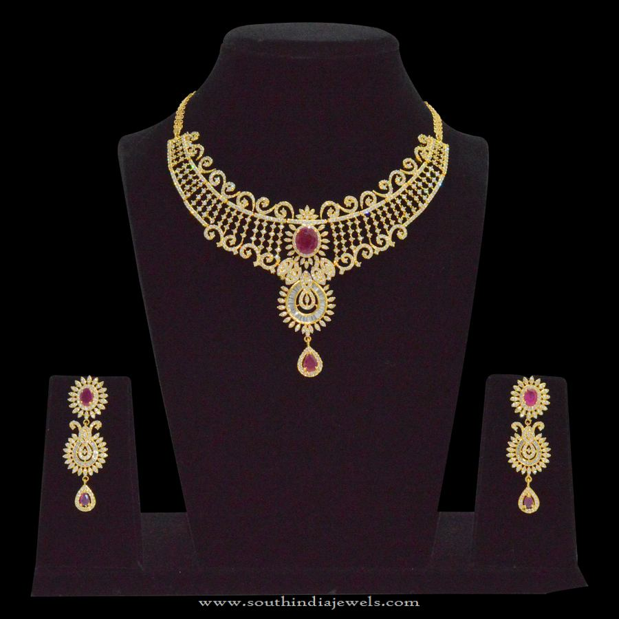 One Gram Gold Covering Choker Necklace