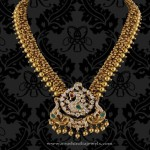 22K Gold Antique Necklace From P.Sathyanarayan & Sons