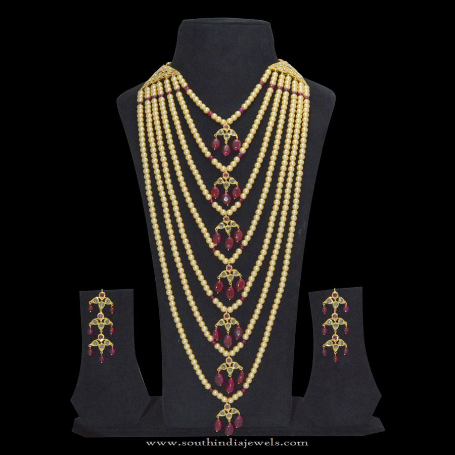 One Gram Gold Pearl Layered Necklace