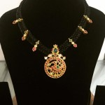 Antique Gold Dori Ruby Necklace