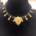 Black Dori Gold Necklace Design