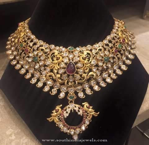 120 Grams Grand Gold Necklace Design