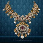 Gold Antique Necklace from P.Satyanarayan & Sons Jewellers