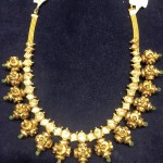 Gold Antique Ball Necklace Model