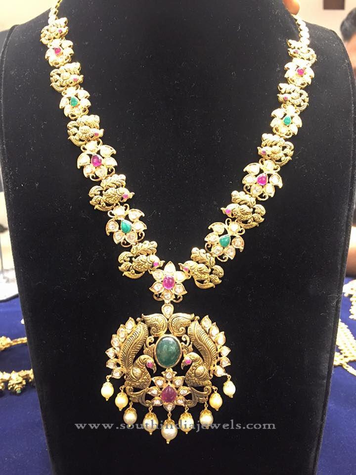 Gold Antique Pacchi Long Haram Design
