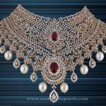 Gold Diamond Choker Necklace from P.Satyanarayan & Sons