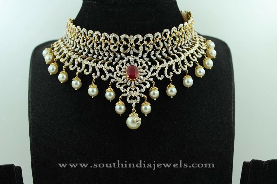Gold Diamond Jewellery Necklace Designs