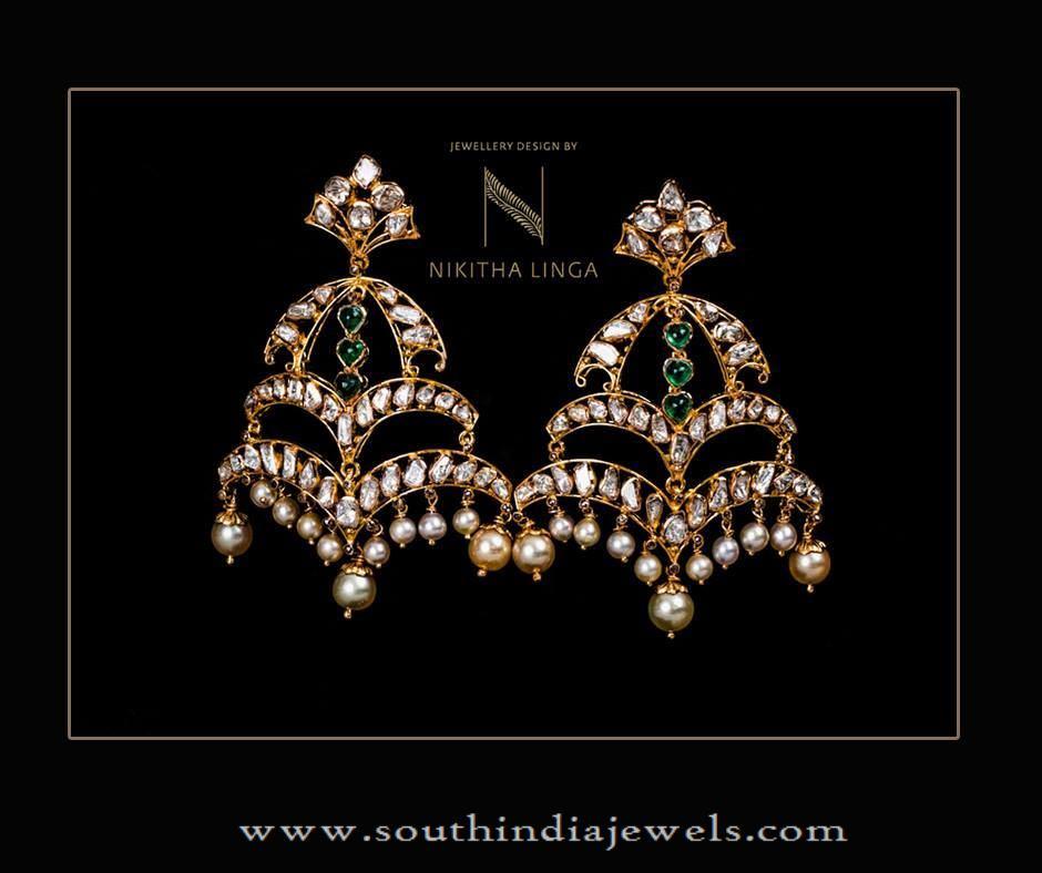 Gold Indian Designer Earrings