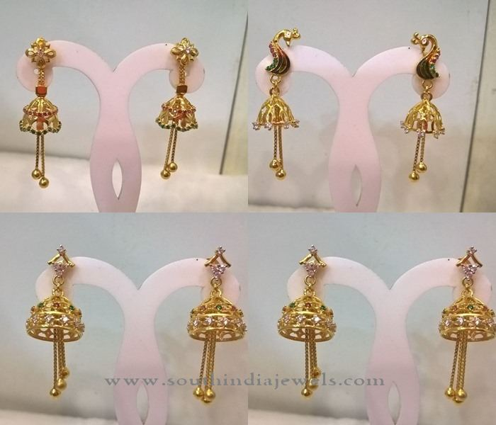Gold Jhumka Collections from Pulimadi Jewellers