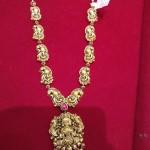 Gold Nakshi Lakshmi Necklace Design