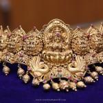 Gold Temple Lakshmi Choker Necklace