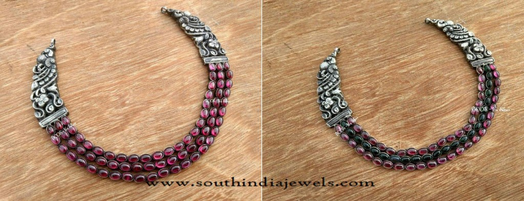 Silver Jewellery Nakshi Necklace