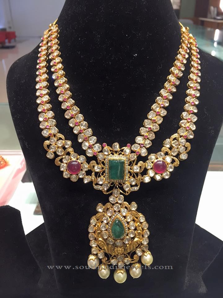 Tow Layer Gold Necklace Design