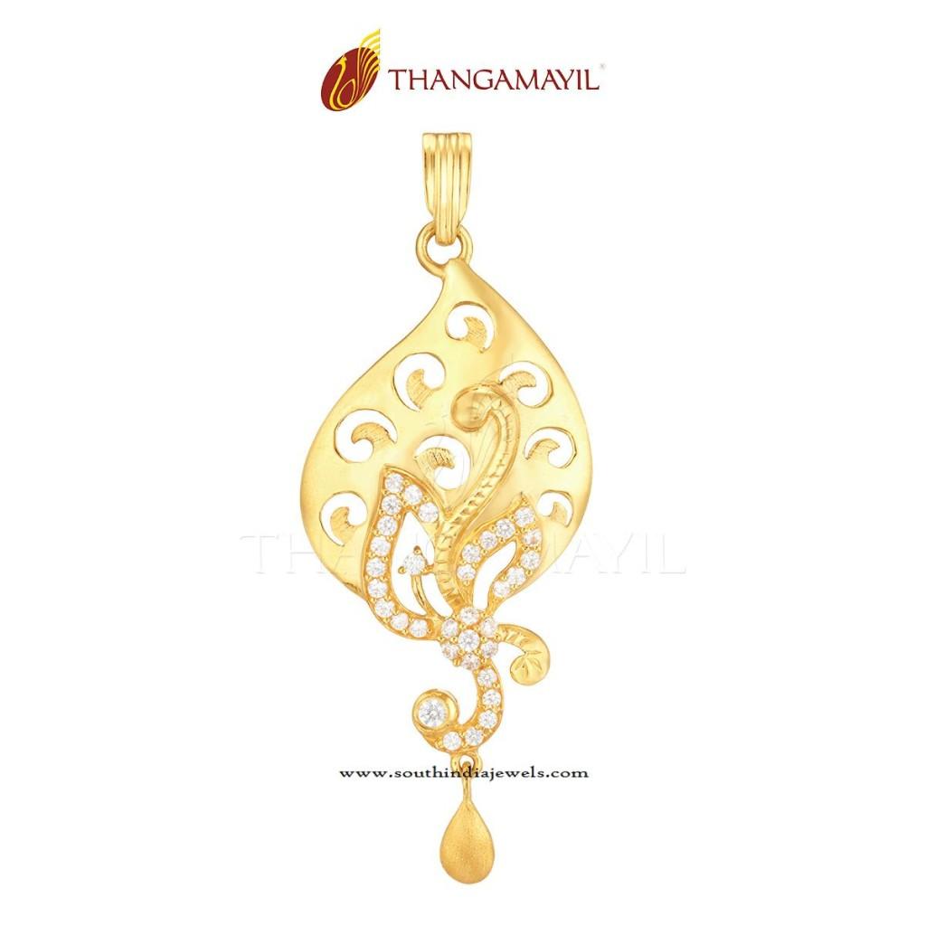22k gold pendant in India