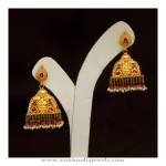 35 Grams Gold Antique Jhumka