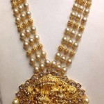 80 Grams Gold Pearl Antique Necklace