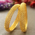 Big Broad Gold Bangles from Manubhai Jewellers