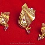 Gold Designer Pendant Set Model