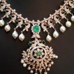 Diamond Emerald Necklace Model