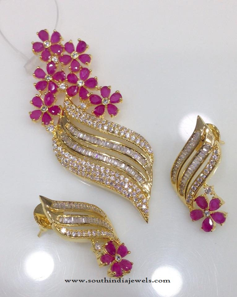 Gold Plated AD Pendant Sets Online