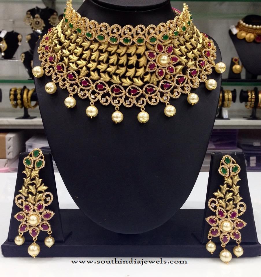 Gold Plated Designer Choker From Swarnakshi