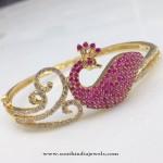 Gold Plated Stone Bracelet Bangle