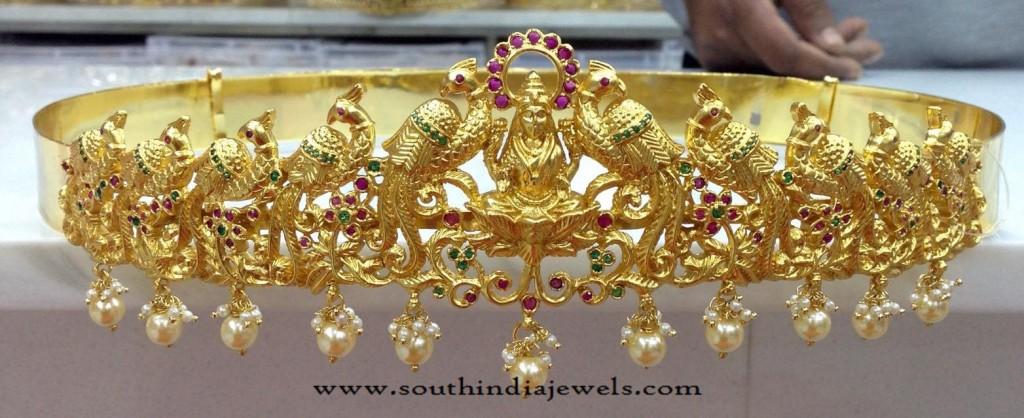 Gold Plated Lakshmi Hip Belt Models
